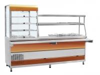 Прилавок-витрина холодильный ПВХМ-70КМУ (красное золото)