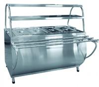 Мармит 2-х блюд ЭМК-70МШ паровой с тепловым шкафом
