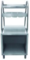 Прилавок для столовых приборов ПСПХ-70М с хлебницей (630 мм)