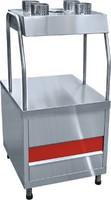 Прилавок для столовых приборов ПСП-70КМ (630 мм., нерж. стаканы)
