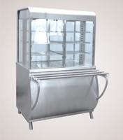 Прилавок-витрина тепловой ПВТ-70М (закрытая витрина, 1120 мм.)
