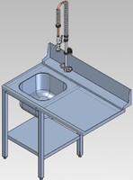 Стол предмоечный СПМФ-7-1 для фронтальной посудомоечной машины